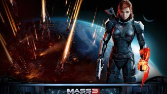 Femshep commander shepard electronic arts armored suit wallpaper