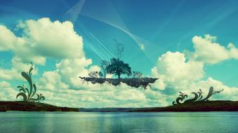 Floating Island wallpaper