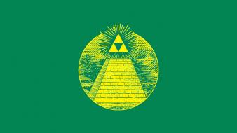 Funny triforce fun art wallpaper