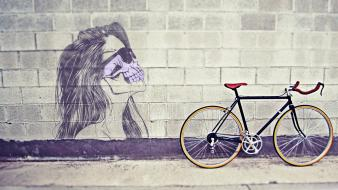 Illustrations street art drawings color splash portraits wallpaper