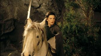 Lord of rings elves arwen undomiel swords wallpaper