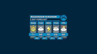 Minimalistic mario funny weather Wallpaper