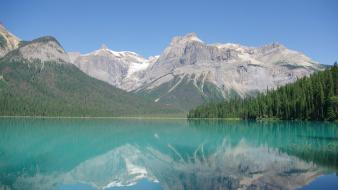 Mountains landscapes nature canada lakes reflections rocky wallpaper