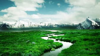 Mountains landscapes rivers wallpaper