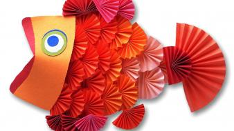 Paper Fish wallpaper