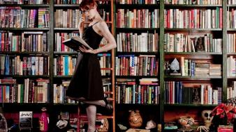 Redheads freckles books felicia day faces portraits wallpaper