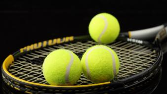 Sports tennis balls racquet wallpaper