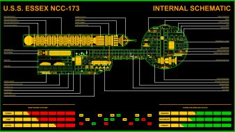 Star trek daedalus the next generation voyager schematics wallpaper