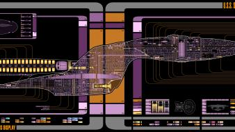 Star trek the next generation voyager final schematics Wallpaper