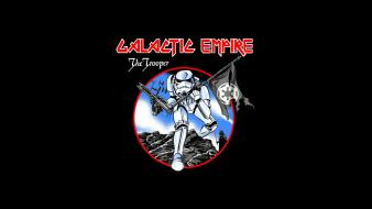 Star wars minimalistic stormtroopers funny iron maiden trooper Wallpaper