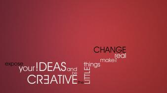 Text real change red background ideas wallpaper