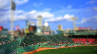 Tilt-shift stadium wallpaper