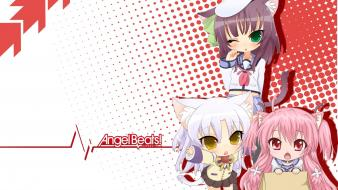White hats anime girls yui (angel beats) wallpaper