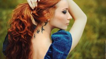 Women nature freedom dress redheads insomnia faces Wallpaper