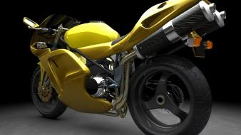 Yellow Sports Bike wallpaper