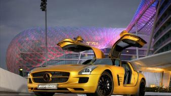 2010 Mercedes Benz Sls Amg Desert Gold 5 wallpaper