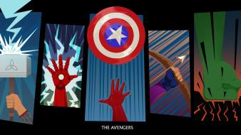 Artwork the avengers hawkeye bow (weapon) mjolnir wallpaper