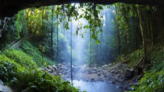 Australia waterfalls national park new south wales wallpaper