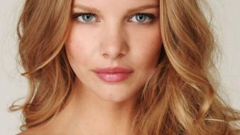 Blondes women close-up blue eyes marloes horst Wallpaper