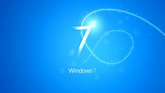 Blue Windows 7 wallpaper