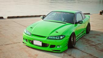 Cars nissan lakes silvia s15 green jdm wallpaper