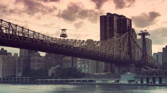 Cityscapes bridges usa new york city ny wallpaper