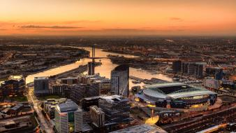 Cityscapes buildings australia melbourne docklands stadium Wallpaper