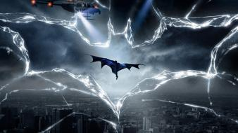 Dark knight rises broken glass light beams wallpaper
