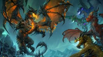 Fantasy art deathwing world of warcraft: cataclysm wallpaper