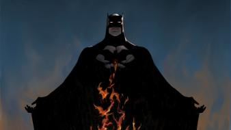 Flames batman dc comics Wallpaper