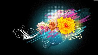 Flower Vector Designs 1080p Hd wallpaper