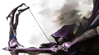 Hawkeye marvel bow (weapon) thedurrrrian (deviant artist) wallpaper