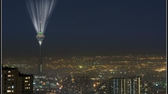 Iran milad tower tehran light night wallpaper