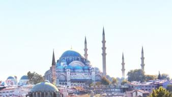 Istanbul bosphorus cami mosque eminonu cities sea wallpaper