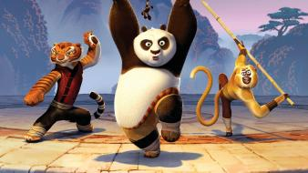 Kung Fu Tigress Panda Monkey Hd wallpaper