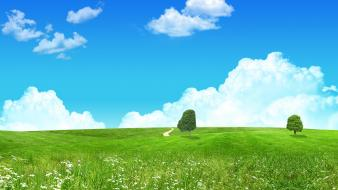 Lovely Green Landscape wallpaper