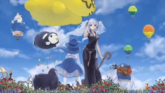Mabinogi elephants balloons china dress chinese clothes wallpaper