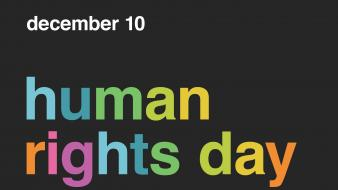 Minimalistic day human rights Wallpaper