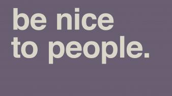 Minimalistic text people purple background wallpaper