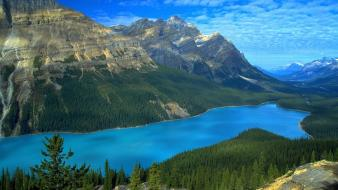 Mountains landscapes nature rivers wallpaper