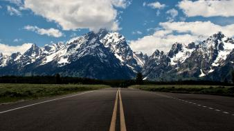 Mountains landscapes streets roads skyscapes Wallpaper