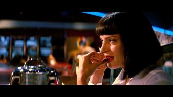 Movies pulp fiction uma thurman wallpaper