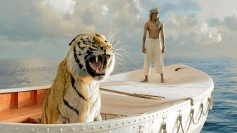 Movies tigers boats life of pi wallpaper