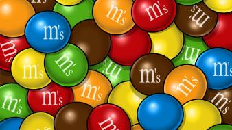 Multicolor candy painted m and ms Wallpaper