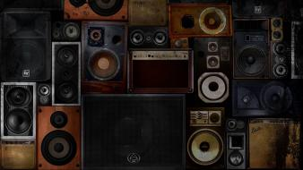 Music audio speakers objects Wallpaper