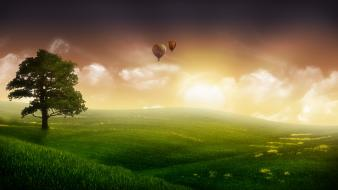 Nature Balloon Ride wallpaper