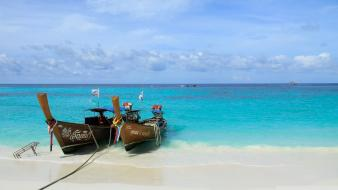 Nature beach summer boats thailand time sea wallpaper