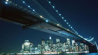 Night lights bridges cities wallpaper