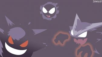 Pokemon gengar haunter simplistic gastly Wallpaper