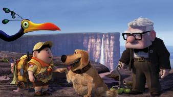 Russell Dug Carl Fredricksen In Pixars Up wallpaper